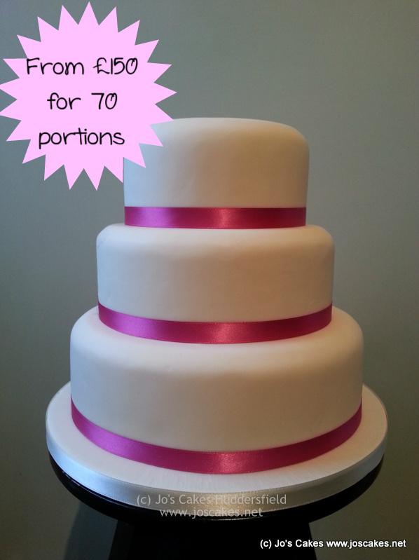 Jo\u0027s Cakes Simple 3 Tier Wedding Cake