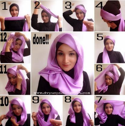 Tips memakai Hijab Untuk Wajah Lonjong Terbaru