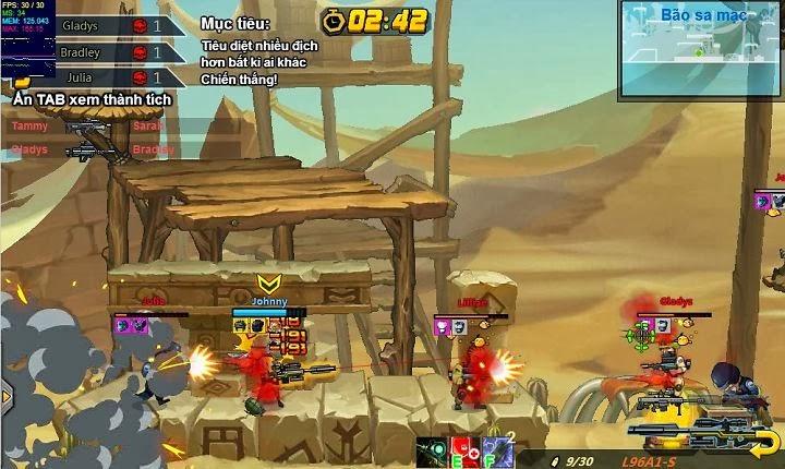 Tuy đồ họa chỉ dừng lại ở nền tẳng 2D nhưng game hay Rambo Lùn vẫn rất được lòng game thủ