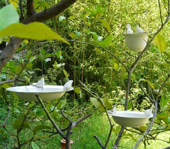 Colecci n jardin elomi cer mica for Bebederos para aves jardin