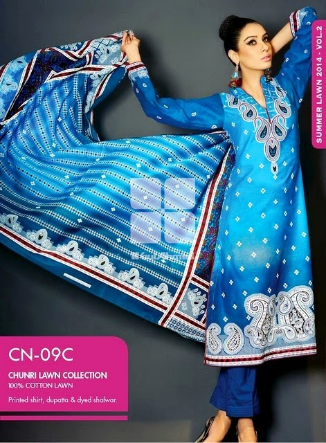 Embroidered Chunri LawnEmbroidered Chunri Lawn