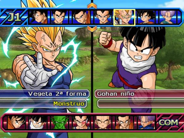 Capturas Dragon Ball Z PS 2 BETA 3 Latino ISO
