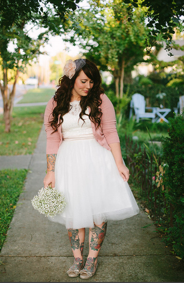 Blissful Whimsy Events: Trend We Love / Brides in Cardigans ...