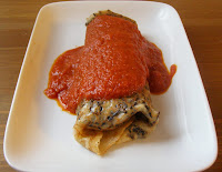 Wild Rice Crpes with a Roasted Red Pepper Sauce