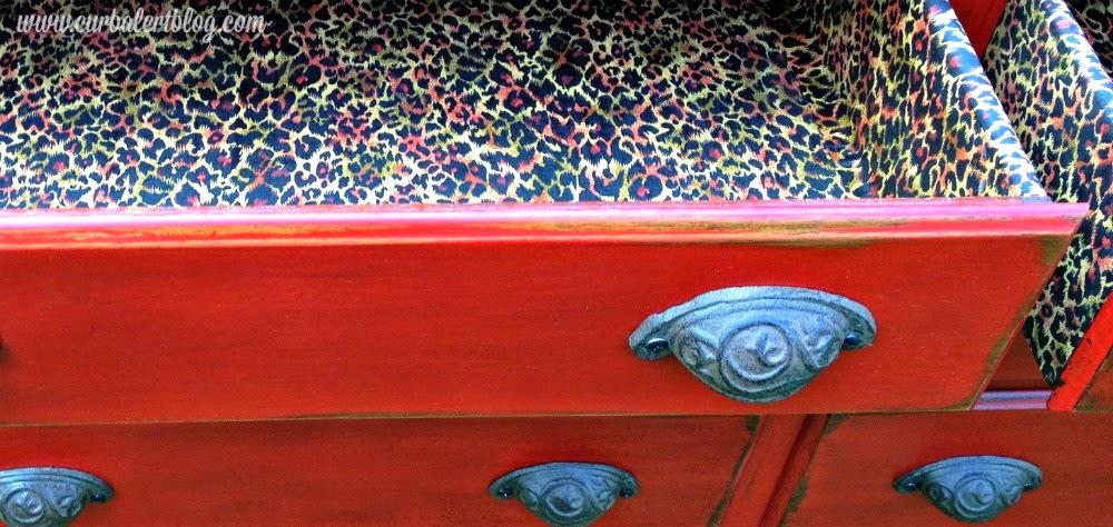 Annie Sloan Chalk Paint Dresser with Hutch - Emperor's Silk via Curb Alert! www.curbalertblog.com