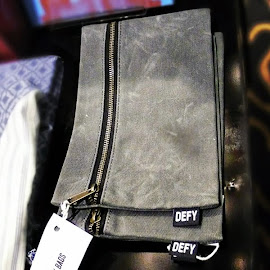 Get some serious gear. Defy Bags Wax Canvas Gear Kit Bag at Space 519.