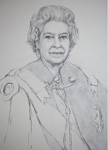 Line Drawing Of Queen Elizabeth Ii : Marie poutine s jewels royals queen elizabeth the second