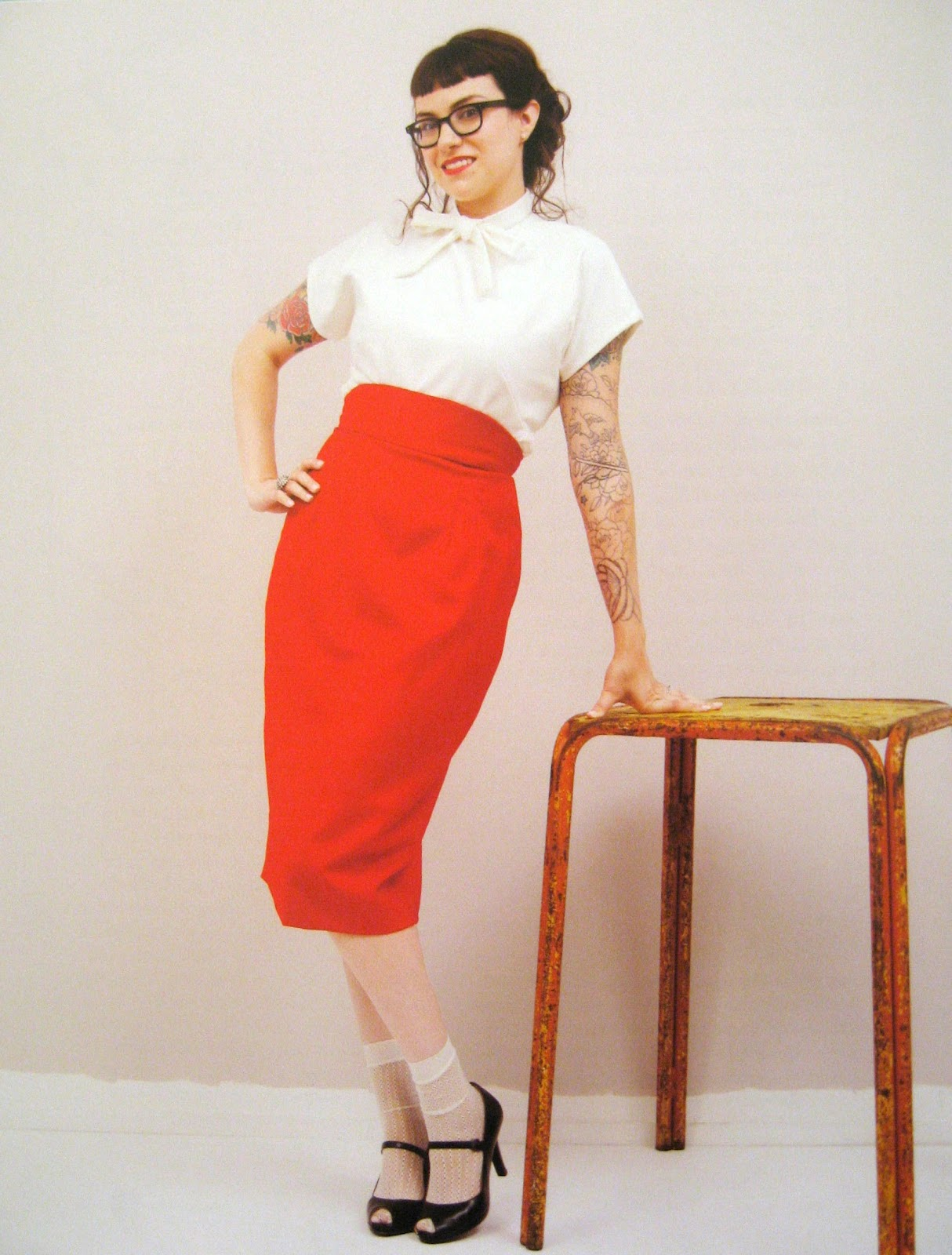quirkyprettycute my pencil skirt thank you gertie