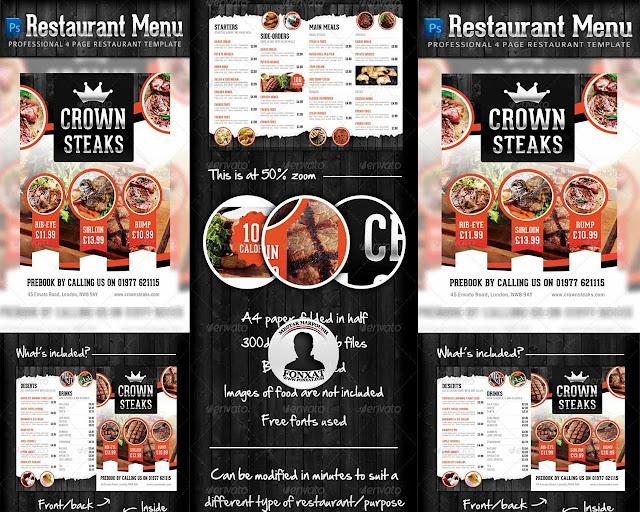 المجموعة 11 من تصميمات منيوهات الطعام والبروشات الاحترافية