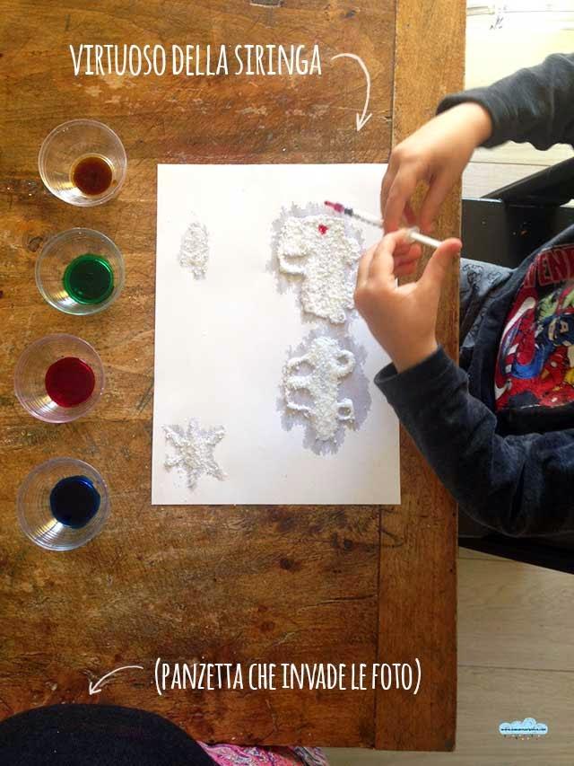 Extrêmement Quandofuoripiove: I disegni in 3D con il sale colorato QI27