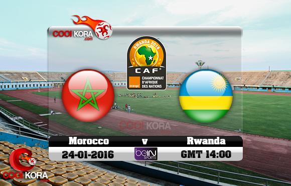 مشاهدة مباراة المغرب ورواندا اليوم 24-1-2016 في كأس أفريقيا للاعبين المحليين