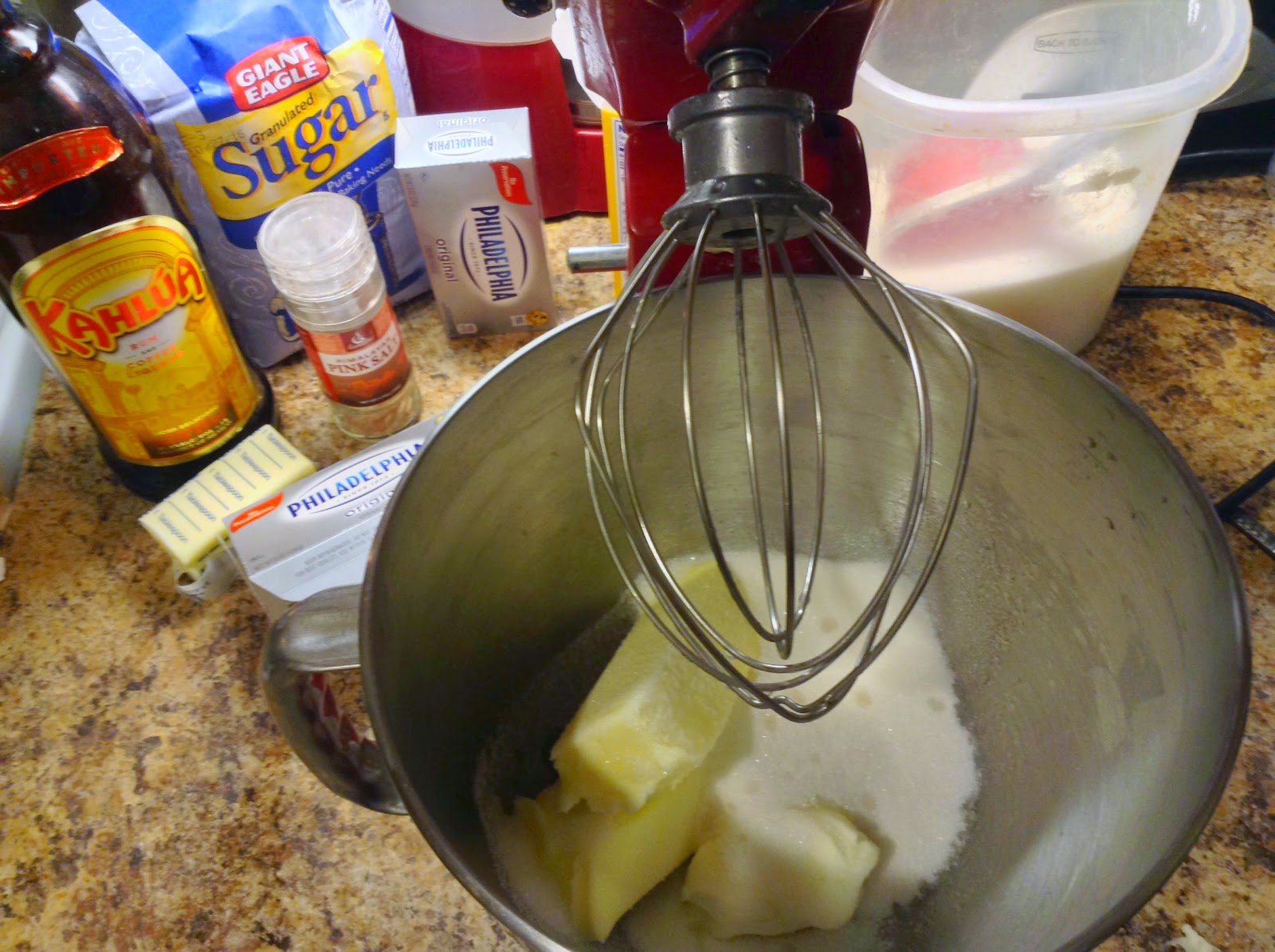 Ingredients for Kahlua and Cream Cheese Sugar Cookie Recipe
