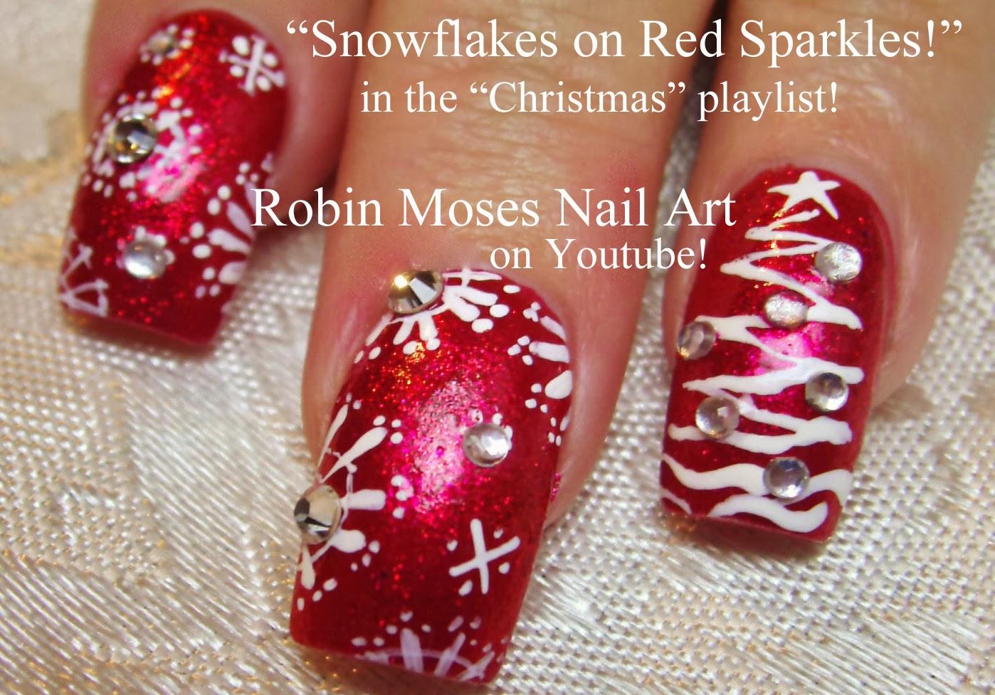 The christmas nail ornament -  Christmas Nail Art Nail Art Santa Skulls Skull Ornaments Santas Helpers Nails Easy Christmas Tree Snowflakes Snowflake Nail Art Diva