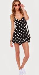 http://www.lulus.com/products/mink-pink-resurrection-black-polka-dot-romper/142490.html