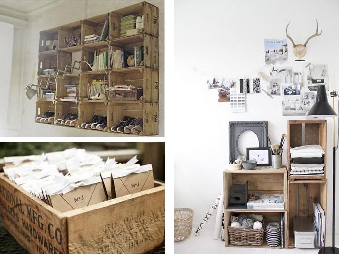 Ispirazione eco le cassette di legno della frutta - Como decorar reciclando ...