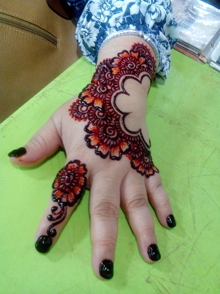 Henna Tattoo Colors : Henna with color makedes