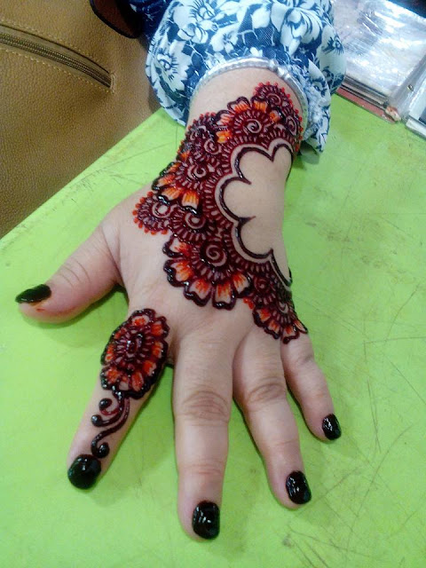 Colored Henna Tattoo Designs