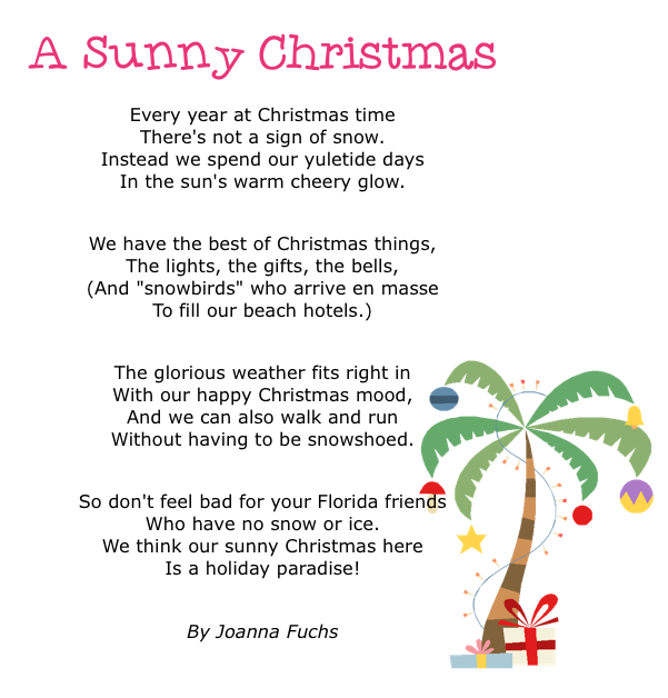 Christmas Greetings From Sunny Florida Sunny Days In