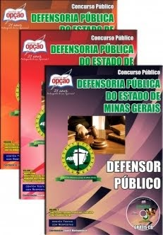 GENTE ABRIU O NOVO Concurso Defensoria Pública do Estado / MG  DEFENSOR PÚBLICO 2014 APOSTILA + CD