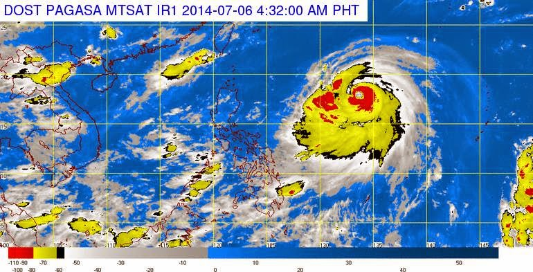Typhoon Florita Weather Update (July 6, 2014)