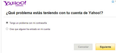 yahoo mail problemas