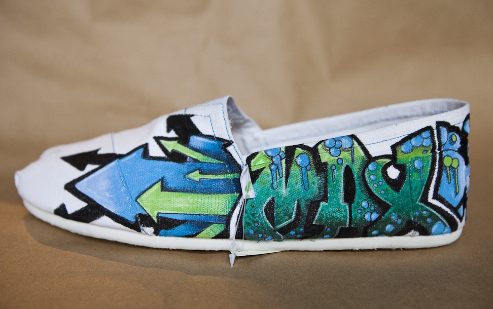 Bright Blue Toms Shoes