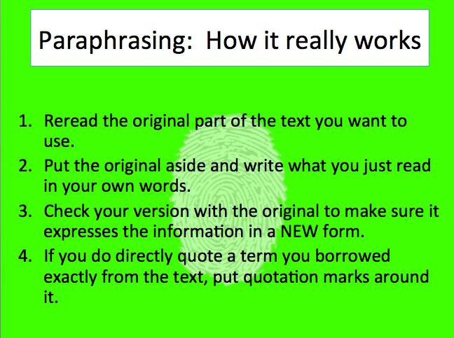summary and parahrase quiz