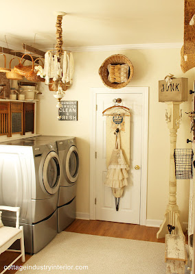 laundry+room+4 Junk chic cottage home tour in Chicago