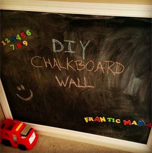 Frantic Mama Diy Magnetic Chalkboard Wall