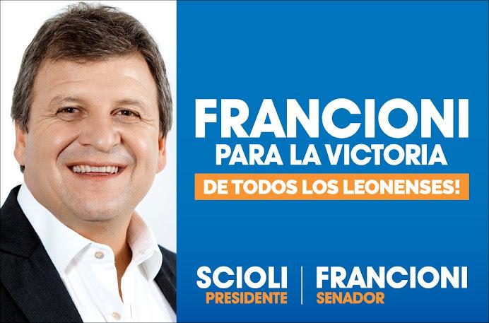 ESPACIO PUBLICITARIO: FRANCIONI SENADOR
