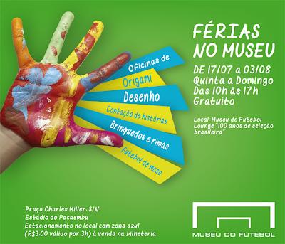 Férias Museu Futebol gratis
