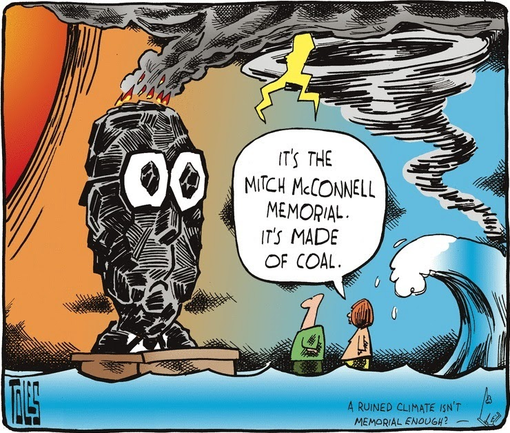 Tom Toles: The Mitch McConnell Memorial.