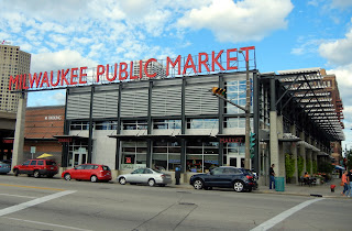 Milwaukee Public Market in Walking in downtown Milwaukee, Wisconsin