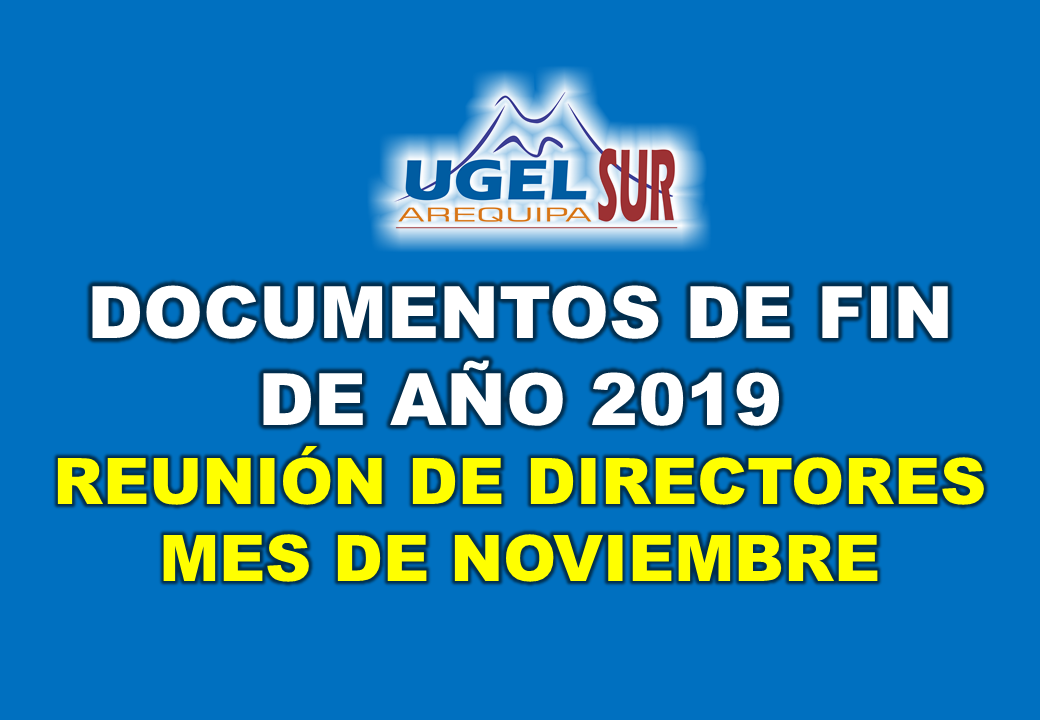 DOCUMENTOS DE FIN DE AÑO 2019