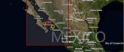 Epicentro sismo 6,0 grados Baja California, 08 de Octubre 2012