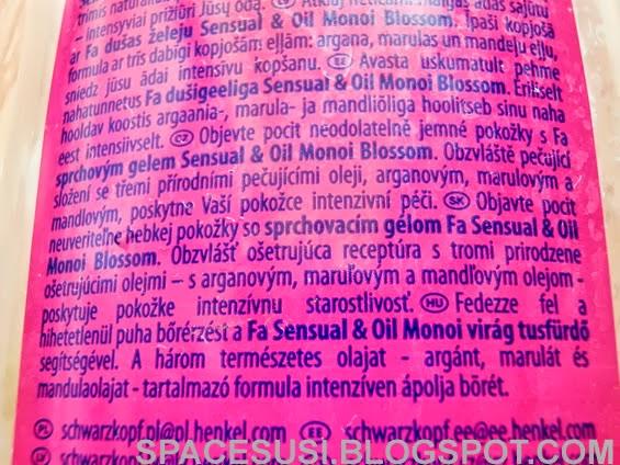 Fa, sprcháč, Sensual & Oil, srchové gely Fa