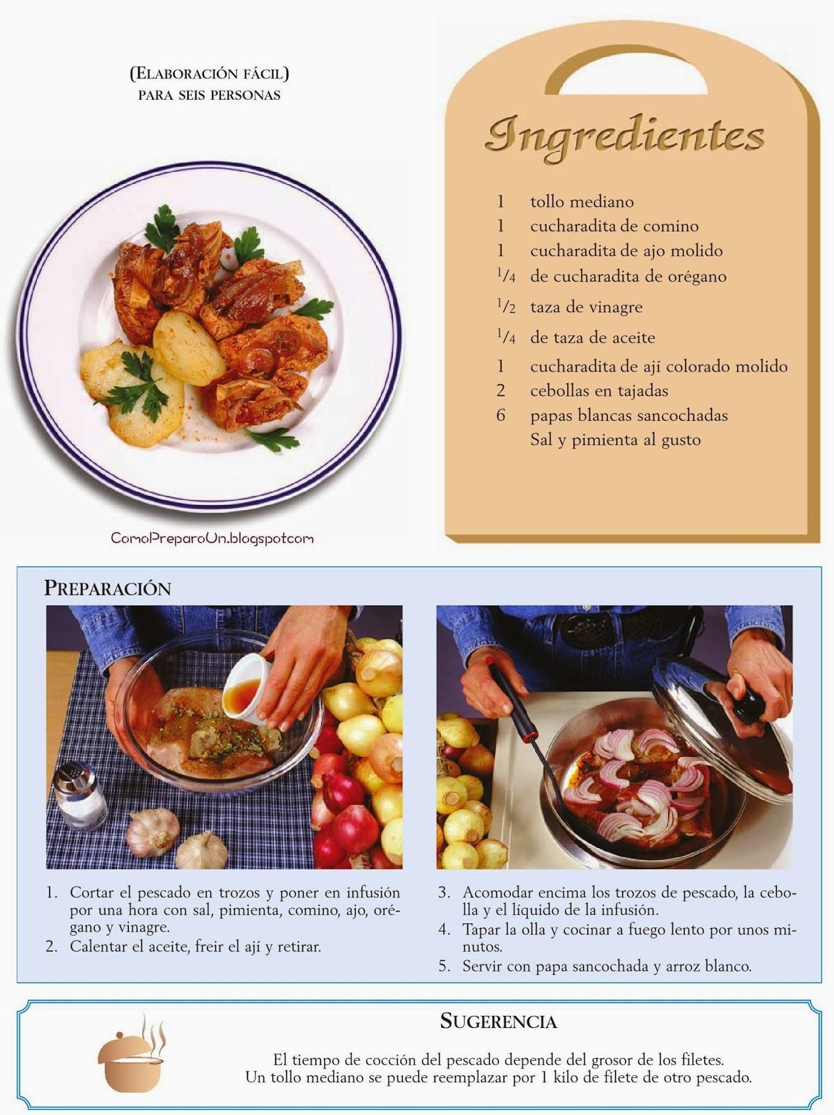 recetas de cocina peruana adobo de pescado comida