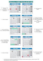 CALENDARIO ESCOLAR curso 2017-2018
