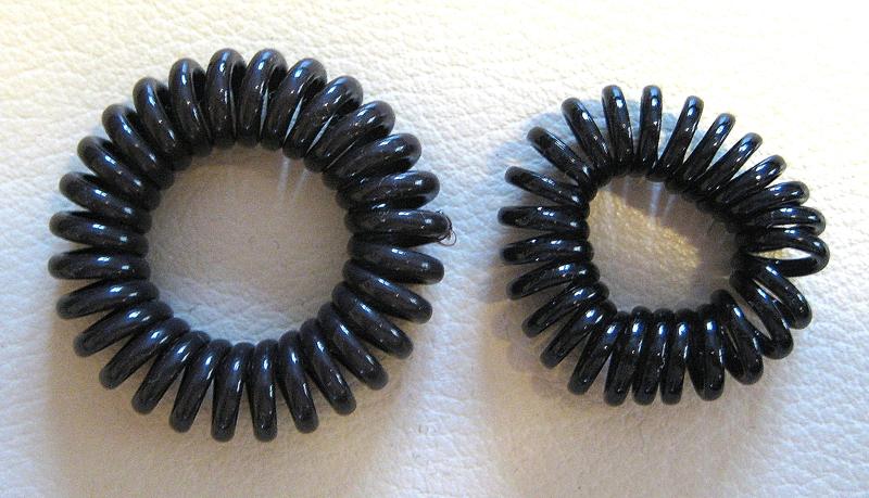 Telefonkabel-Haargummis, Spiral-Haargummis