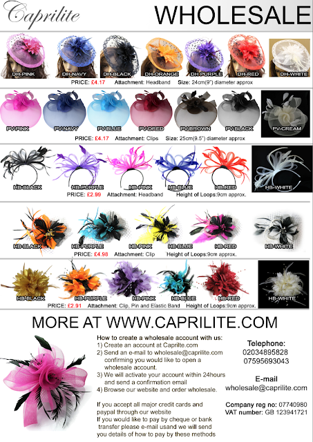 How to create a wholesale account with us: 1) Create an account at Caprilte.com 2) Send an e-mail to wholesale@caprilite.com   confirming you would like to open a    wholesale account. 3) We will activate your account within 24hours    and send a confirmation email 4) Browse our website and order wholesale.  If you accept all major credit cards and  paypal through our website If you would like to pay by cheque or bank  transfer please e-mail usand we will send  you details of how to pay by these methods