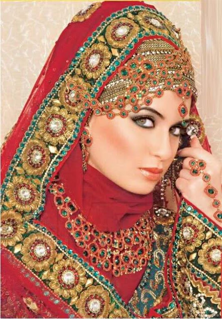 Embellished Wedding hijabs