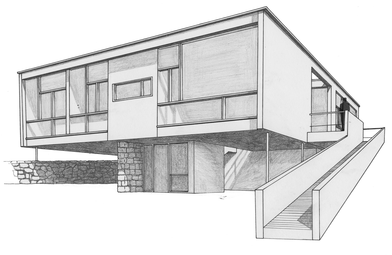 Todd norcott draw it for Architecture modern house design 2 point perspective view