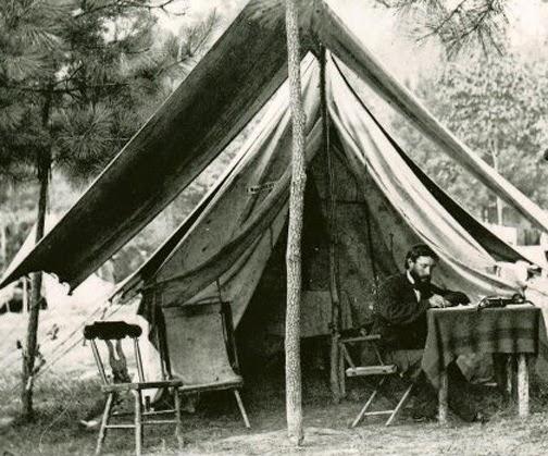 Civil War Tents : Civil war quilts inside willoughby babcock s tent