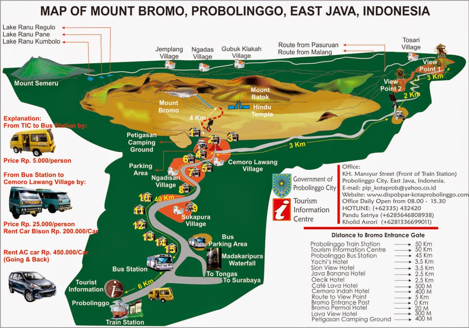 rute menuju bromom, tips ke gunung bromo