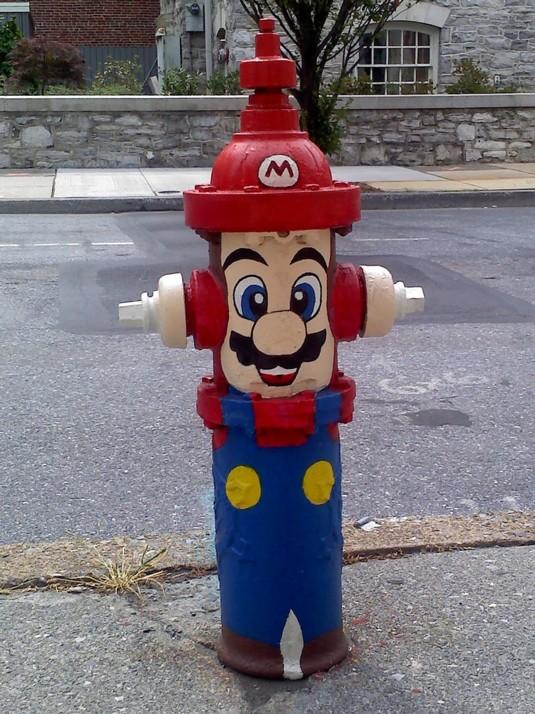 hidrante mario bros