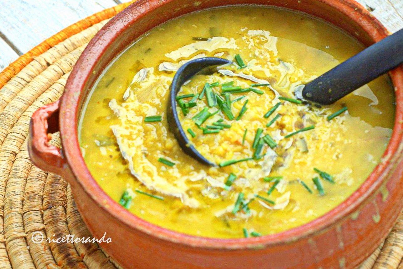 Zuppa di lenticchie e amaranto ricetta primi piatti vegetariani con legumi