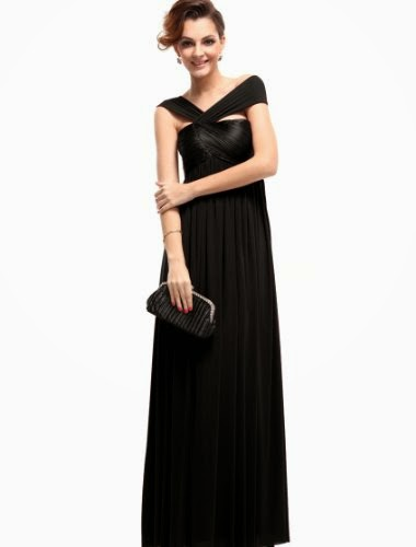Fabulous Pleat Empire Long Formal Party Evening Dress