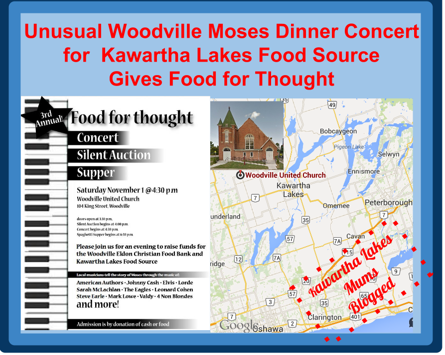 Kawartha lakes Woodville Dinner Concert for Kawartha Lakes Food Source Gives Food for though