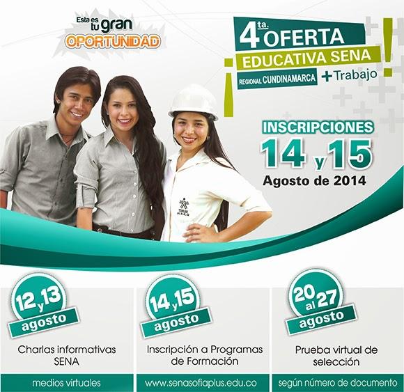 Cuarta Oferta Educativa SENA 2014