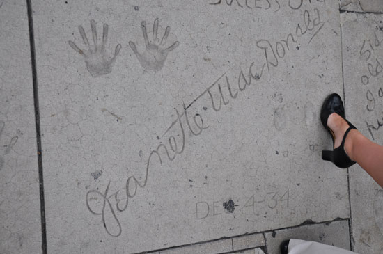Jeanette MacDonald footprints Grauman's Chinese Theater by Lady by Choice